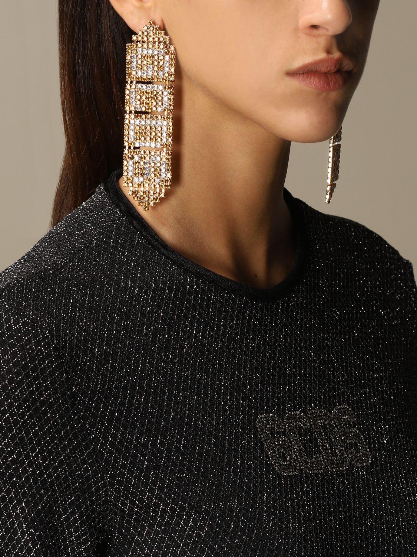 Gioielli Gcds: Orecchini Gold GCDS pendenti con cristalli oro 2
