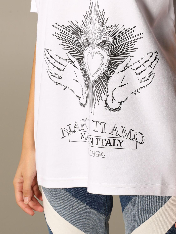 T-Shirt Gcds: T-shirt damen Gcds weiß 4