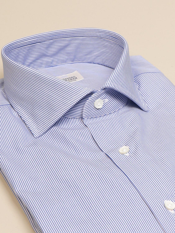 Shirt Alessandro Gherardi: Alessandro Gherardi shirt in wadded cotton gnawed blue 2