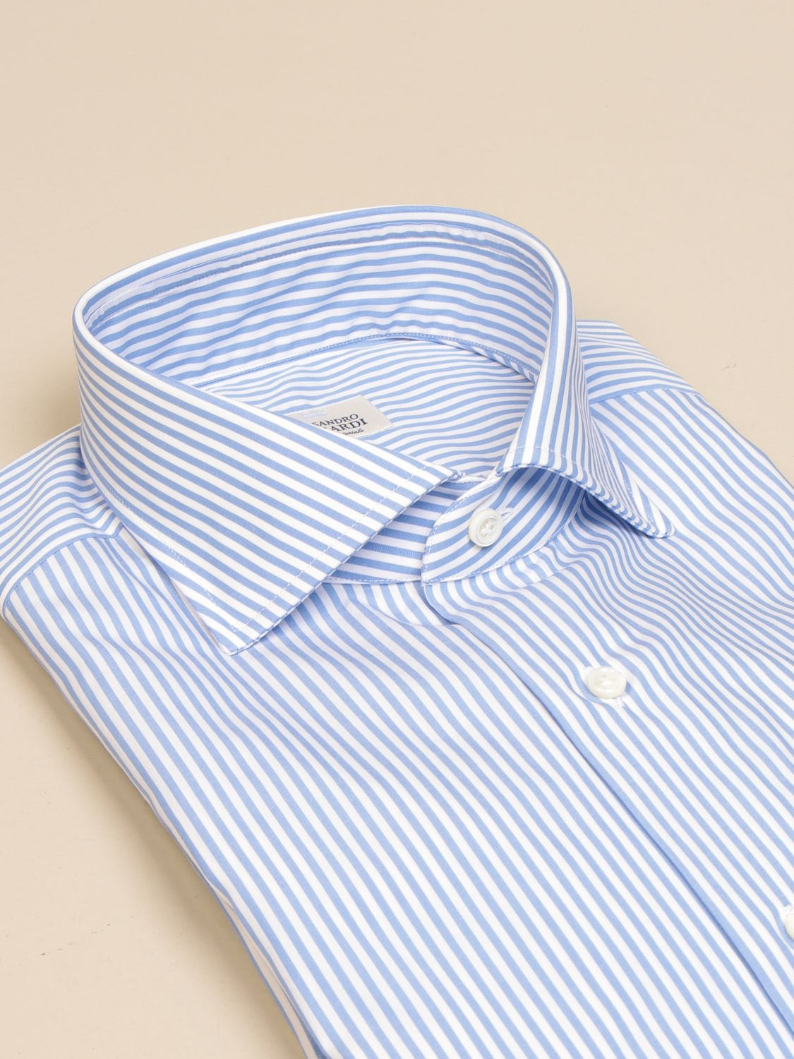 Shirt Alessandro Gherardi: Alessandro Gherardi shirt in wadded cotton gnawed blue 2