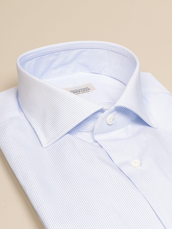 Camicia Alessandro Gherardi: Camicia Alessandro Gherardi in cotone bacchettato celeste 2