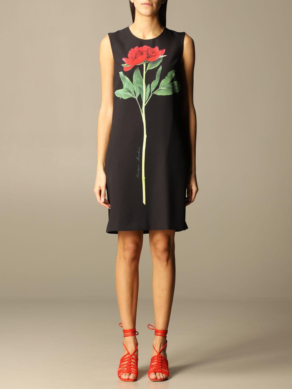 Boutique Black Dresses,Flower Print Short Dress,moschino dress,moschino dress,