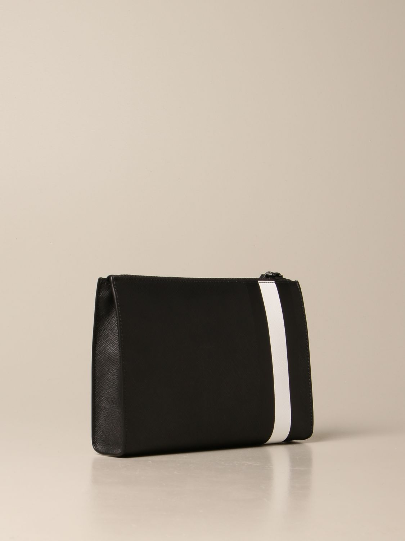 Portadocumenti Bally: Pochette Skid Bally in tela spalmata con trainspotting nero 2