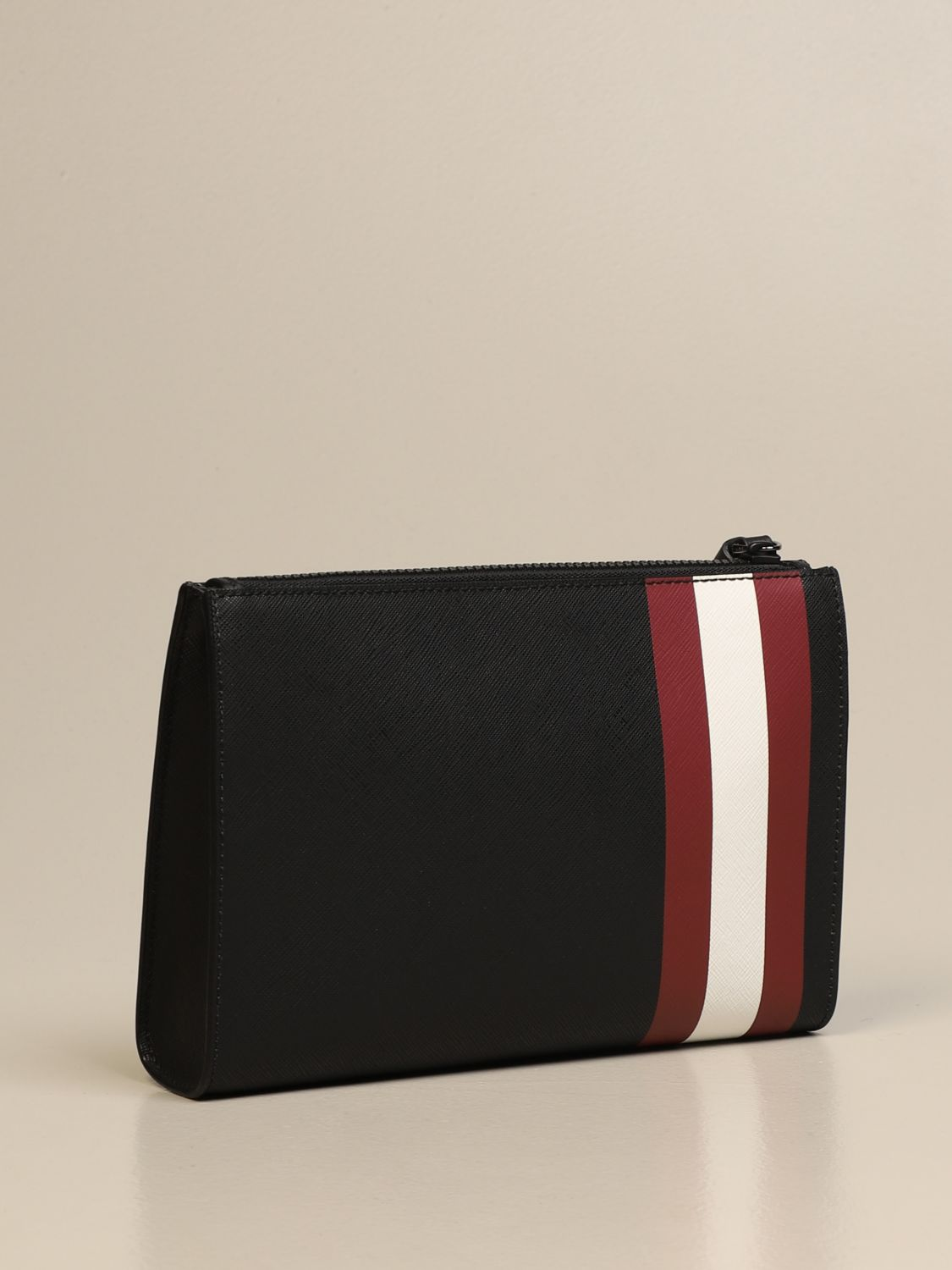 Briefcase Bally: Skid Bally clutch bag in coated canvas with trainspotting black 1 2