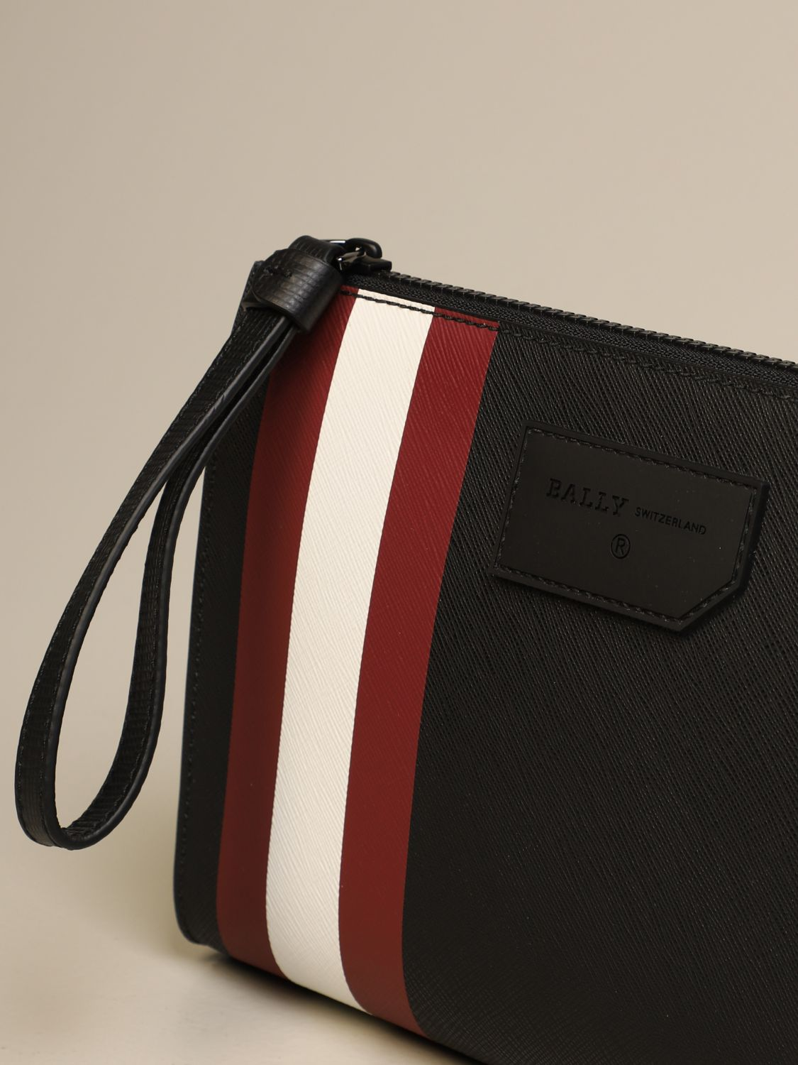 Briefcase Bally: Skid Bally clutch bag in coated canvas with trainspotting black 1 3