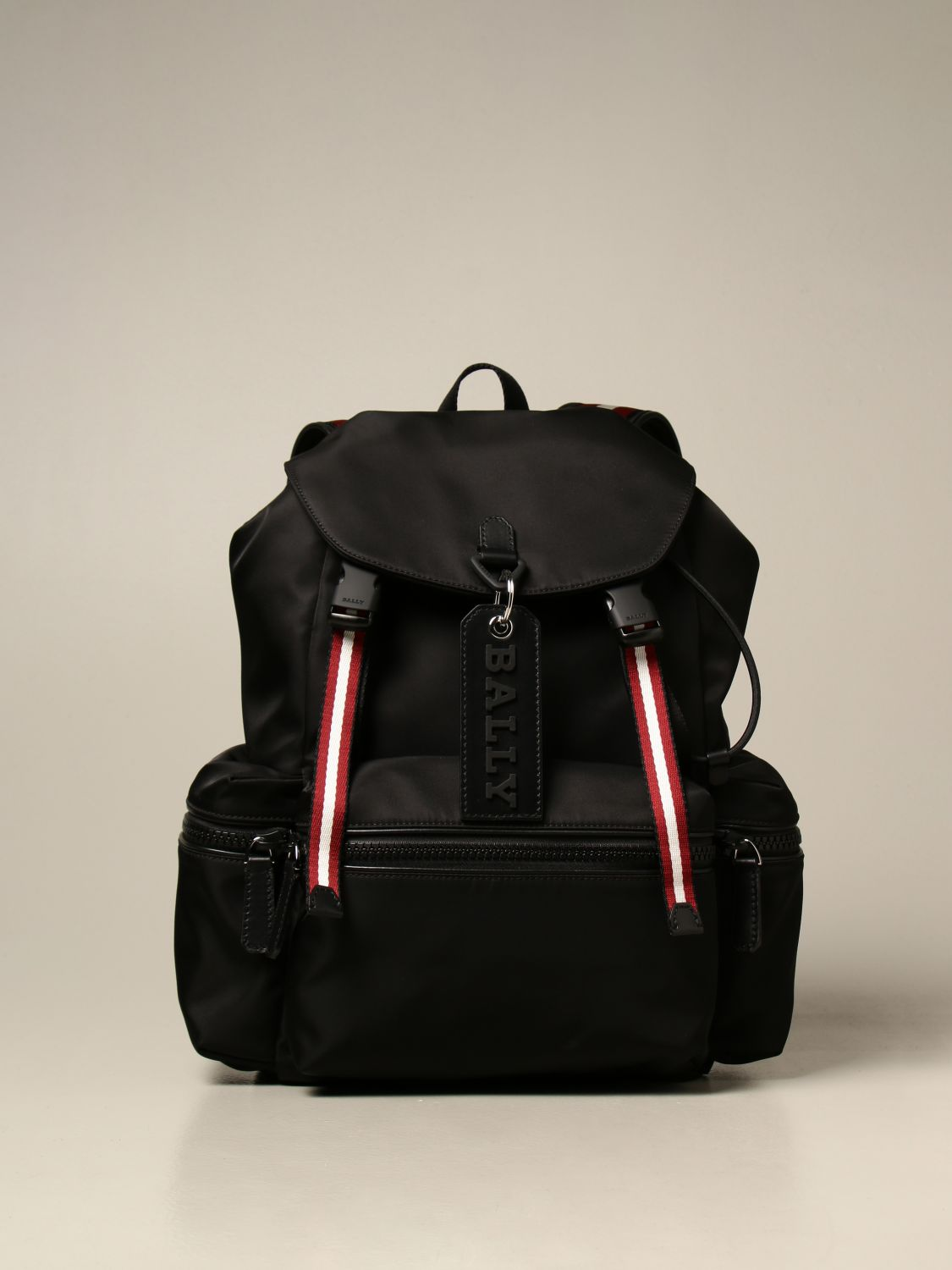 Backpack Bally: Crew Bally backpack in nylon with trainspotting band black 1