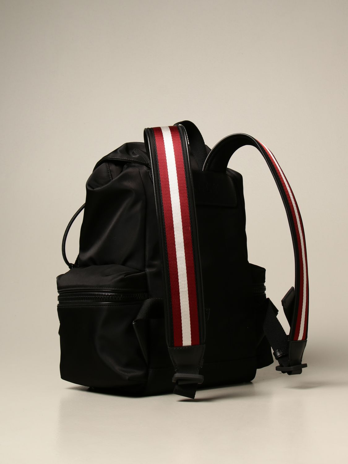 Backpack Bally: Crew Bally backpack in nylon with trainspotting band black 3