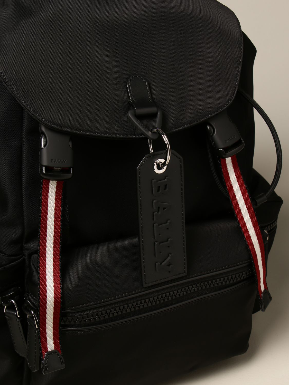 Backpack Bally: Crew Bally backpack in nylon with trainspotting band black 4