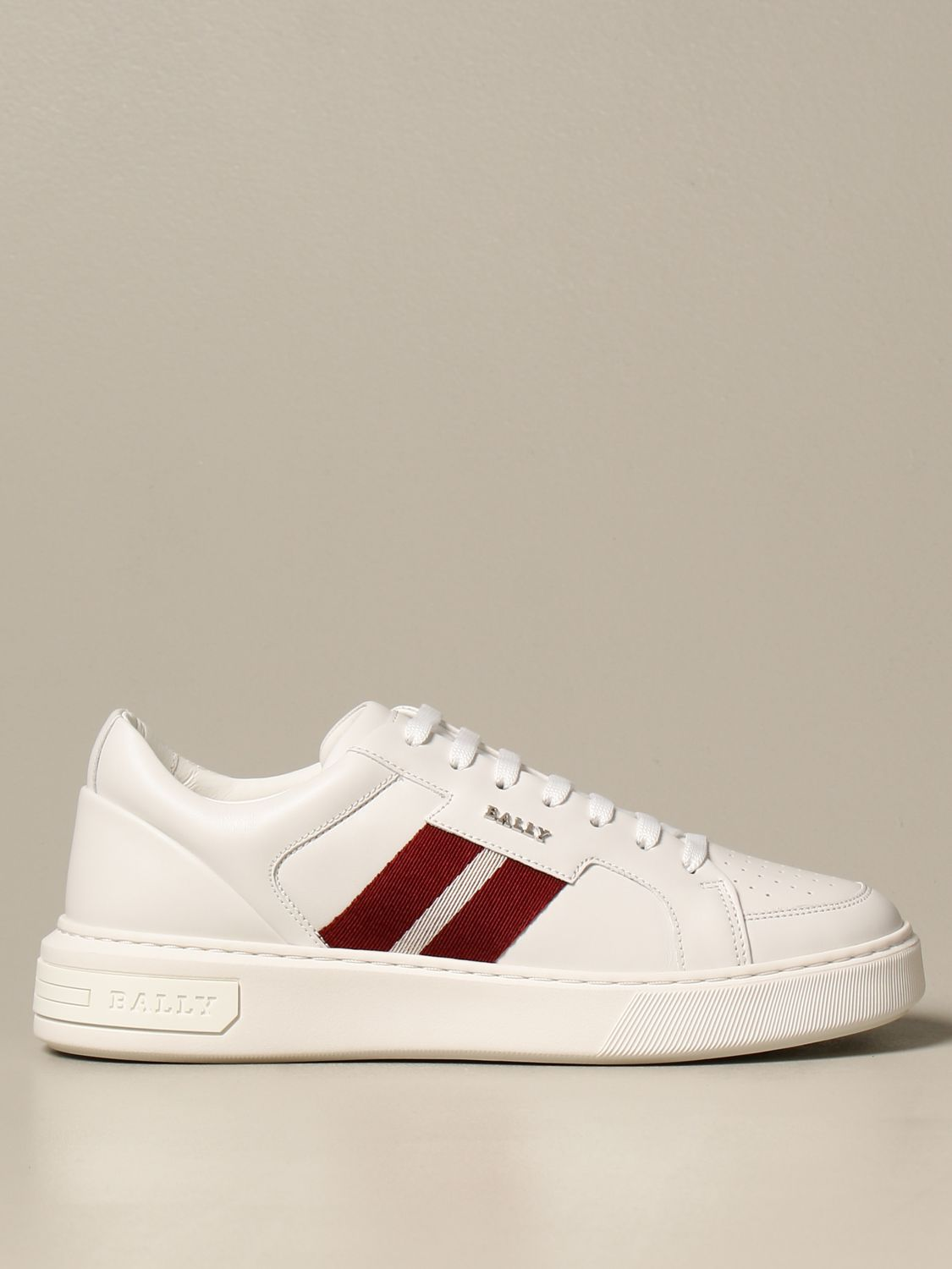Sneakers Bally: Moony leather sneakers with logo white 1