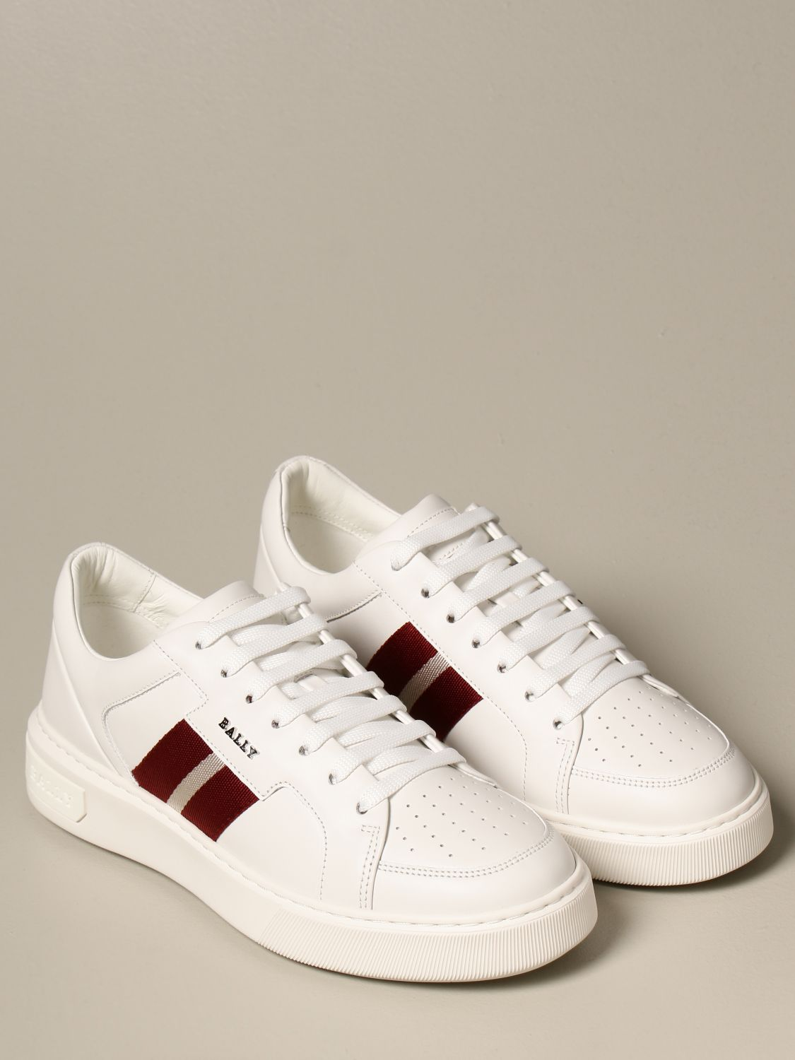 Sneakers Bally: Moony leather sneakers with logo white 2