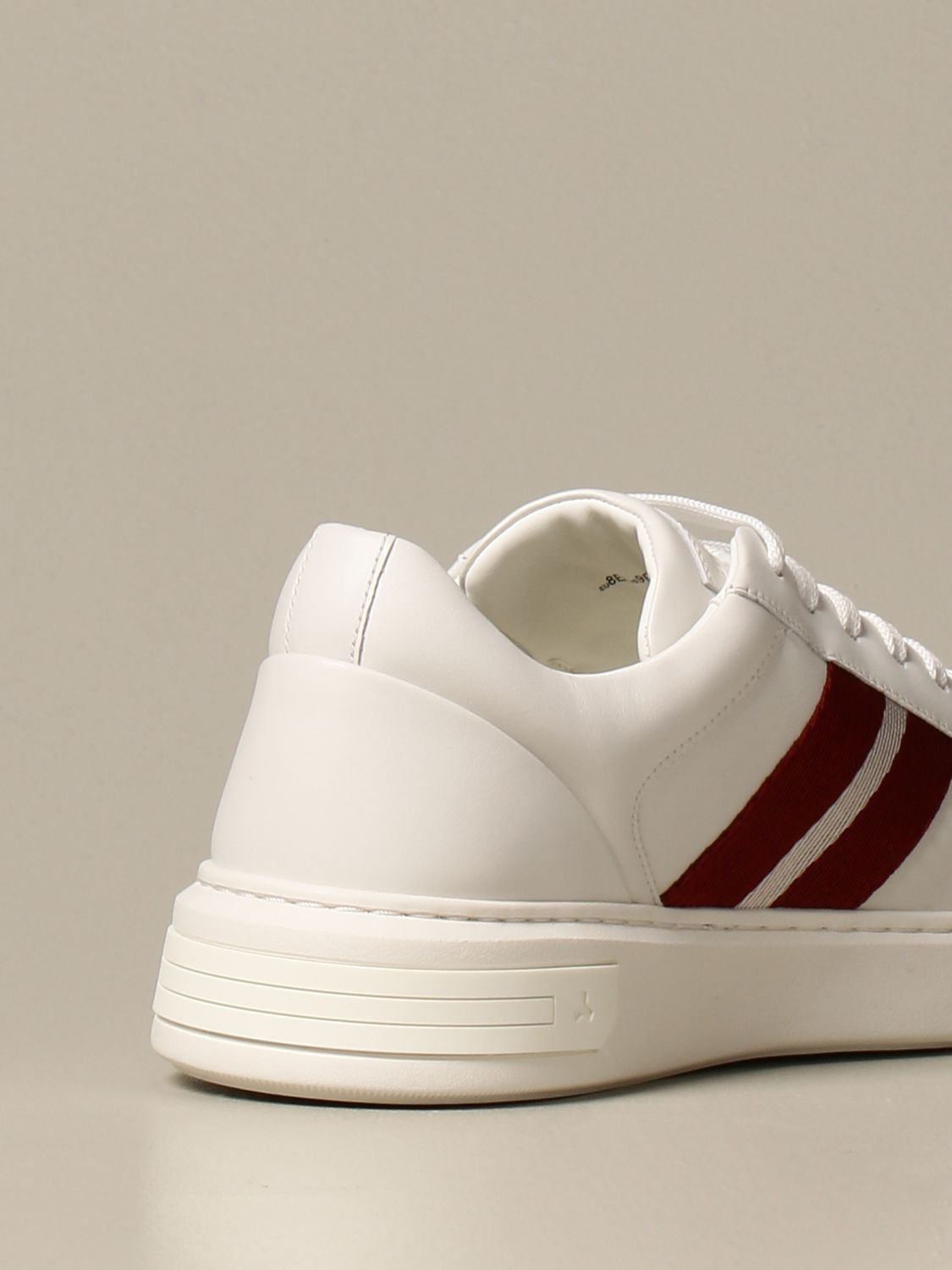 Sneakers Bally: Moony leather sneakers with logo white 3