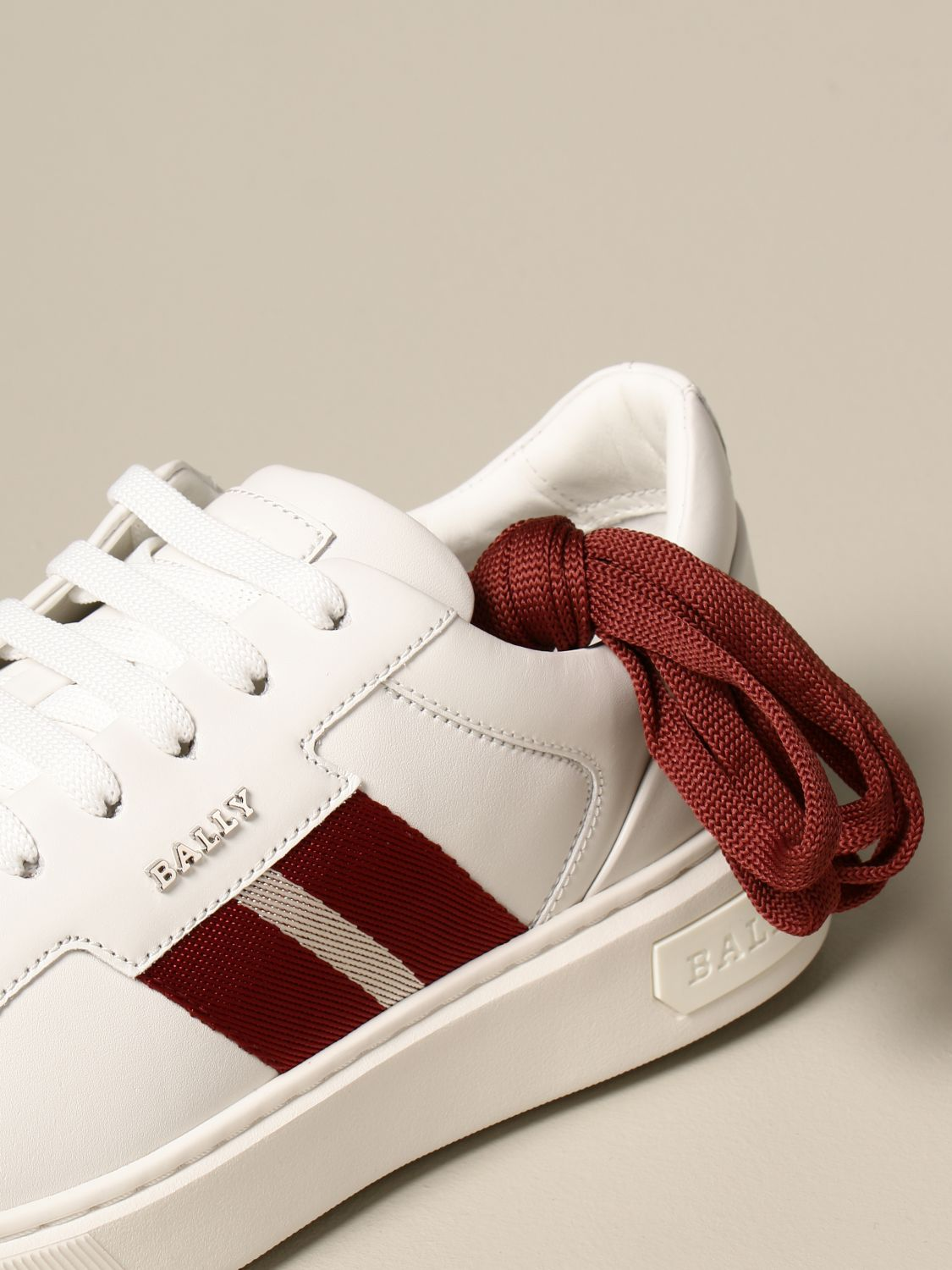 Sneakers Bally: Moony leather sneakers with logo white 4