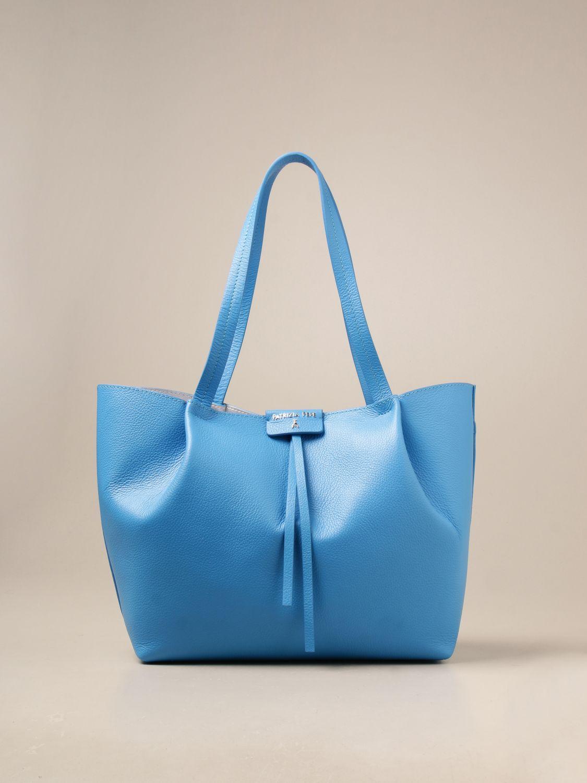 Shoulder bag Patrizia Pepe: Patrizia Pepe shopping bag in textured leather blue 1 1