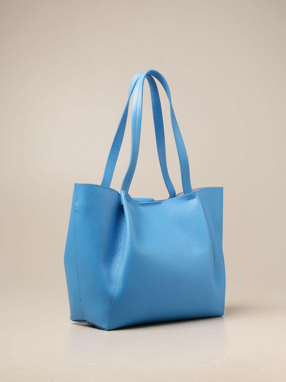 Shoulder bag Patrizia Pepe: Patrizia Pepe shopping bag in textured leather blue 1 2