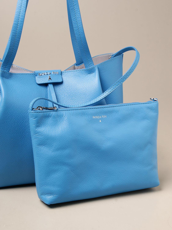 Shoulder bag Patrizia Pepe: Patrizia Pepe shopping bag in textured leather blue 1 3