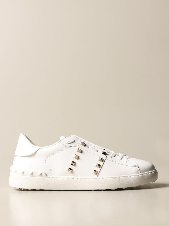 Trainers Valentino Garavani: Valentino Garavani Rockstud Untitled trainers in leather with studs white 1