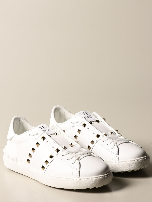 Trainers Valentino Garavani: Valentino Garavani Rockstud Untitled trainers in leather with studs white 2