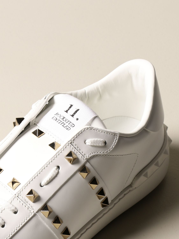 Trainers Valentino Garavani: Valentino Garavani Rockstud Untitled trainers in leather with studs white 4