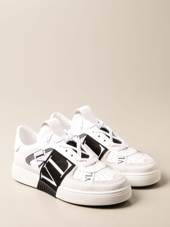 Trainers Valentino Garavani: Valentino Garavani leather sneakers with VLTN logo white 2