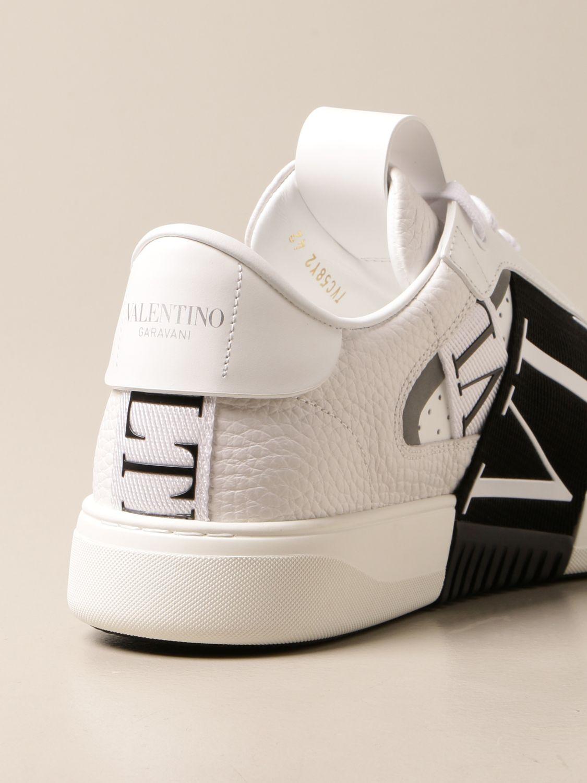 Trainers Valentino Garavani: Valentino Garavani leather sneakers with VLTN logo white 3