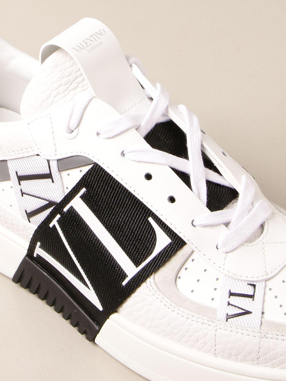 Trainers Valentino Garavani: Valentino Garavani leather sneakers with VLTN logo white 4