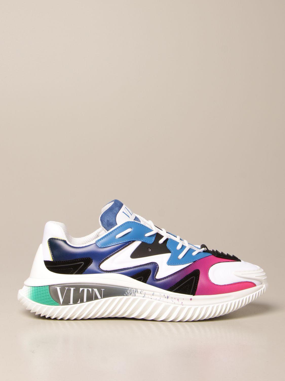 Sneakers Valentino Garavani: Sneakers Wade Runner Valentino Garavani in neoprene e tessuto bianco 1