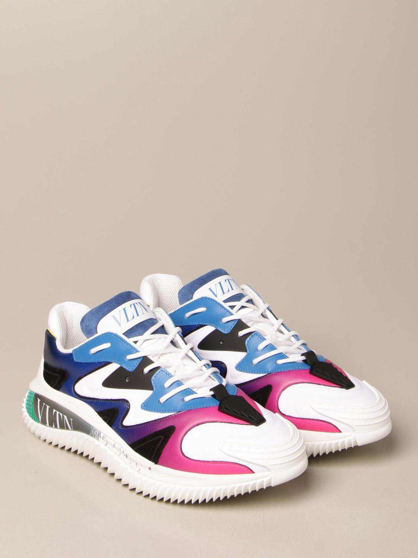 Sneakers Valentino Garavani: Sneakers Wade Runner Valentino Garavani in neoprene e tessuto bianco 2