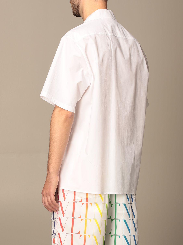 Camicia Valentino: Camicia Valentino in cotone con stampa VLTN multicolor bianco 3