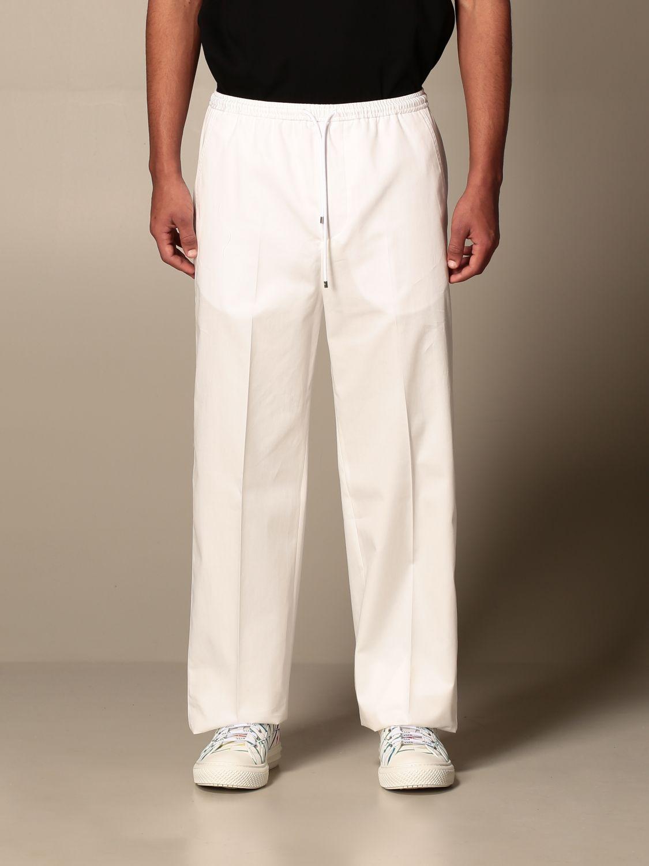 Trousers Valentino: Valentino cotton jogging trousers white 1
