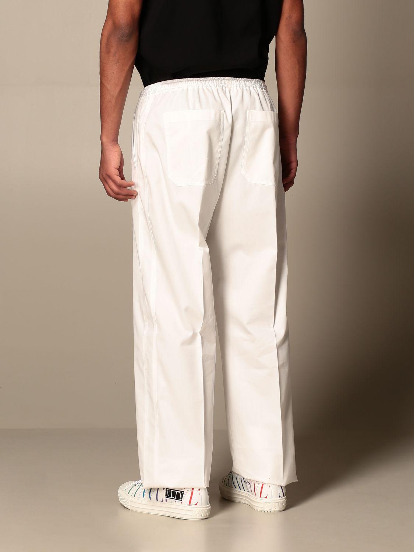 Trousers Valentino: Valentino cotton jogging trousers white 3