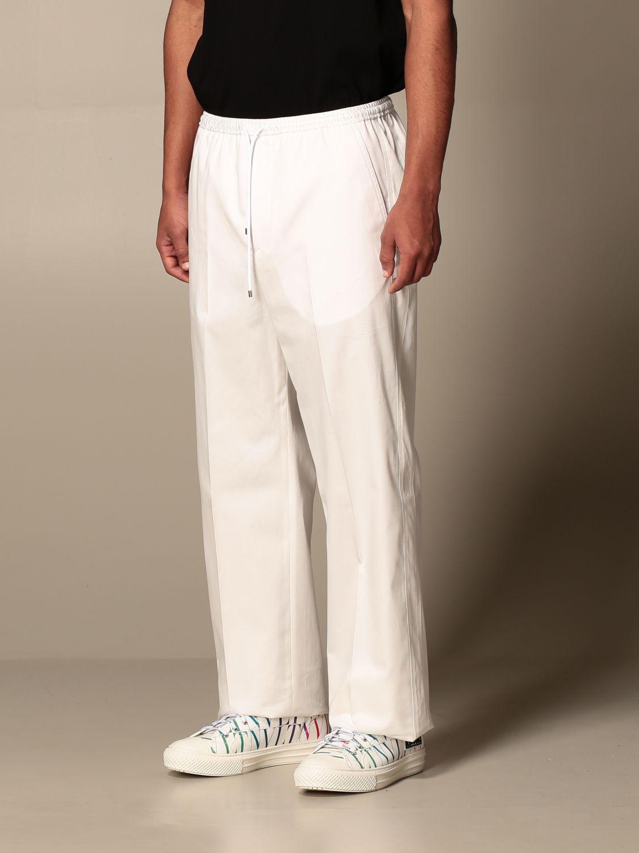 Trousers Valentino: Valentino cotton jogging trousers white 4