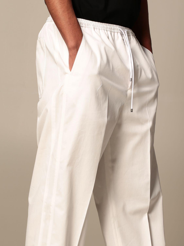 Trousers Valentino: Valentino cotton jogging trousers white 5