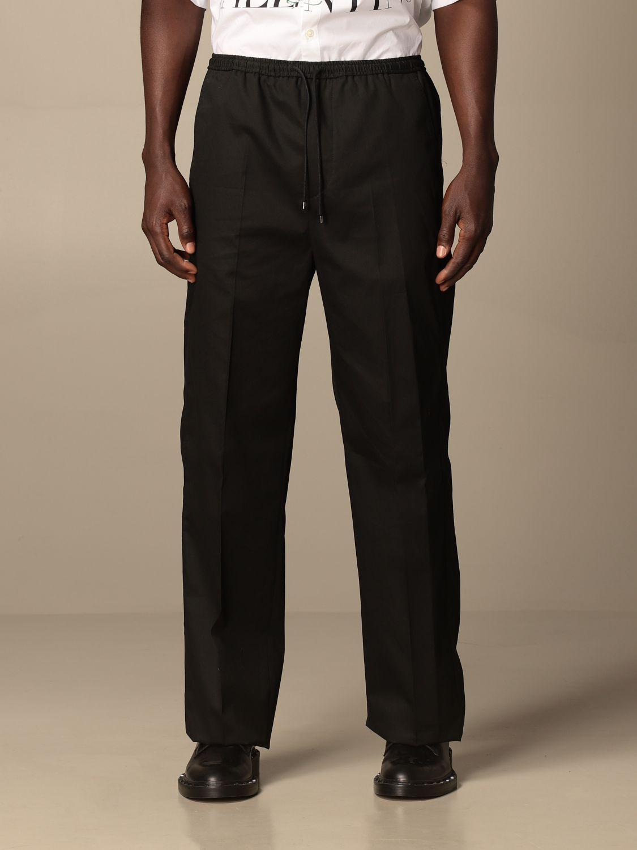 Pantalone Valentino: Pantalone jogging Valentino in cotone nero 1