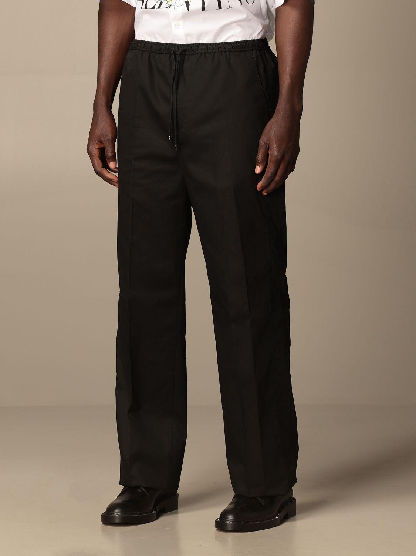 Pantalone Valentino: Pantalone jogging Valentino in cotone nero 4