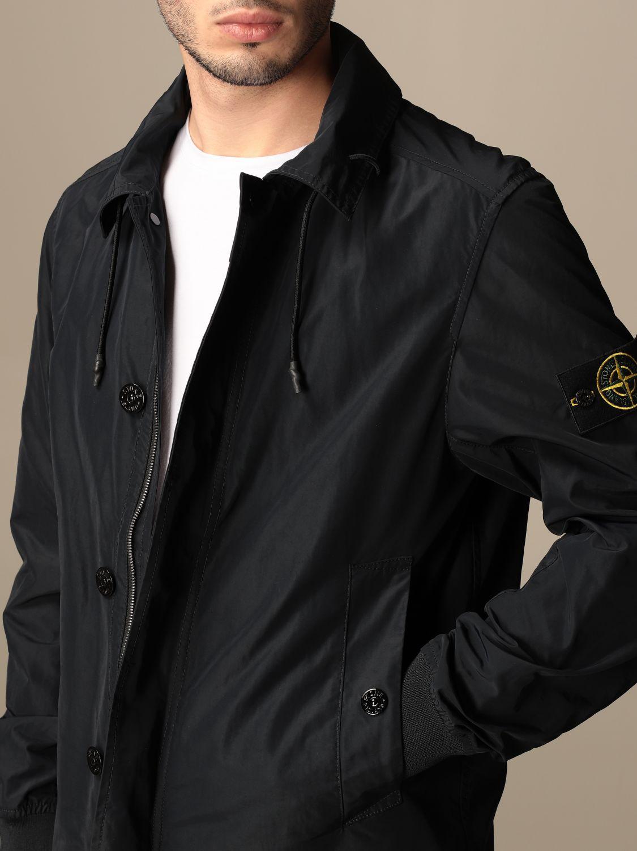 Jacket Stone Island: Stone Island jacket in opaque nylon polyester rep navy 4