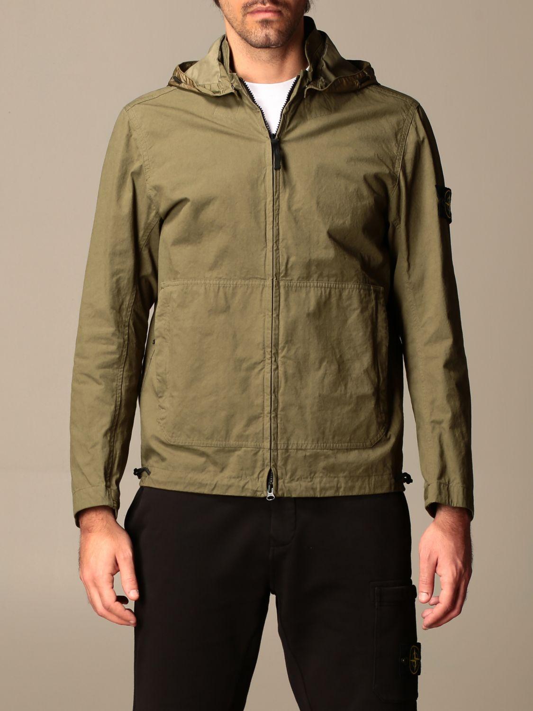 Jacket Stone Island: Stone Island hooded jacket in cordura cotton olive 1