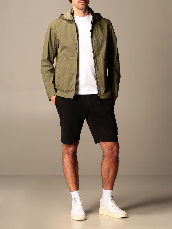 Jacket Stone Island: Stone Island hooded jacket in cordura cotton olive 2