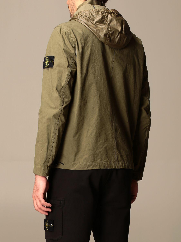 Jacket Stone Island: Stone Island hooded jacket in cordura cotton olive 3