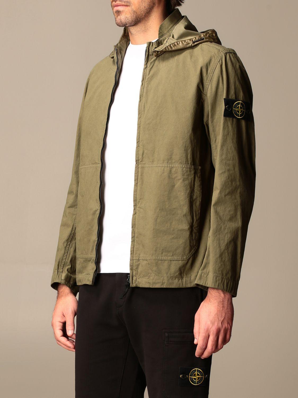 Jacket Stone Island: Stone Island hooded jacket in cordura cotton olive 4