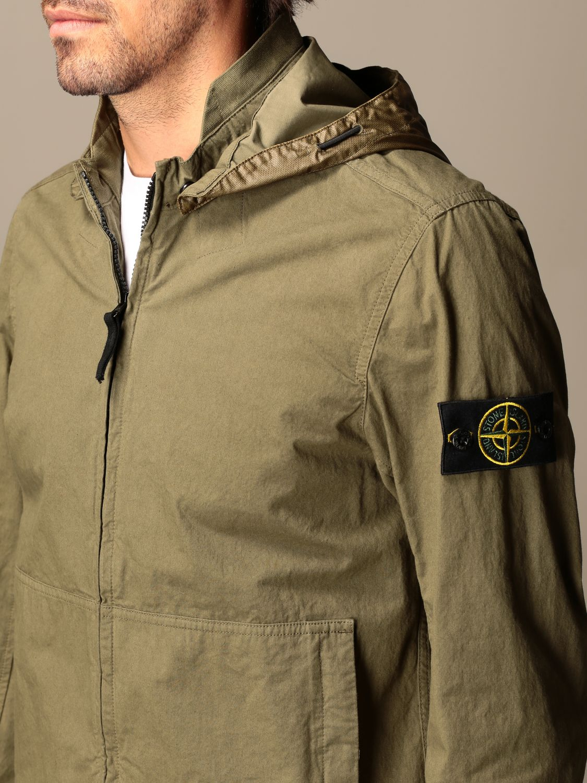 Jacket Stone Island: Stone Island hooded jacket in cordura cotton olive 5