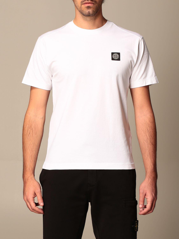 T-shirt Stone Island: Stone Island t-shirt in basic cotton white 1