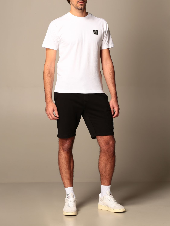 T-shirt Stone Island: Stone Island t-shirt in basic cotton white 2