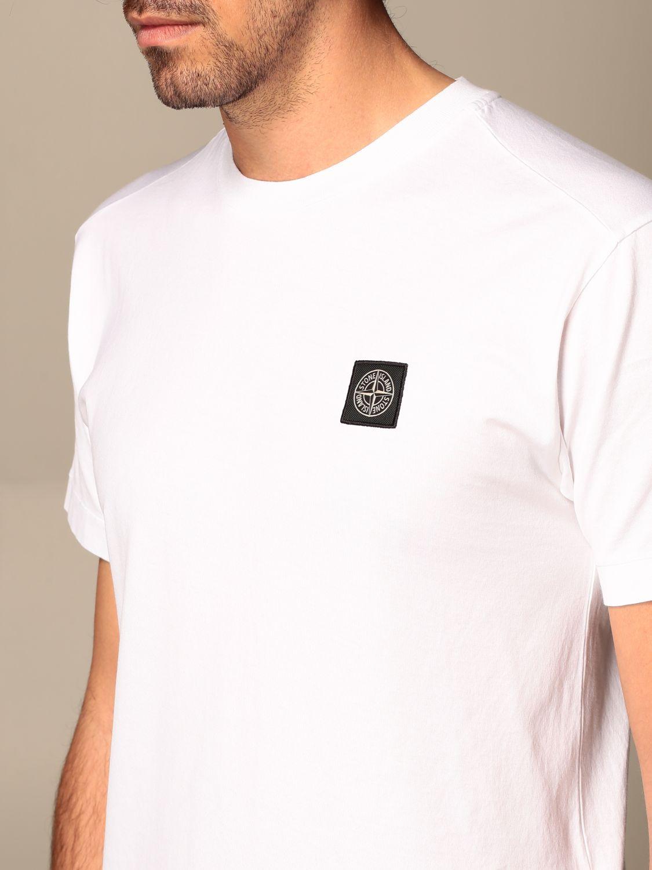 T-shirt Stone Island: Stone Island t-shirt in basic cotton white 4