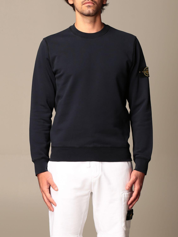 Sweatshirt Stone Island: Stone Island crewneck sweatshirt in cotton navy 1