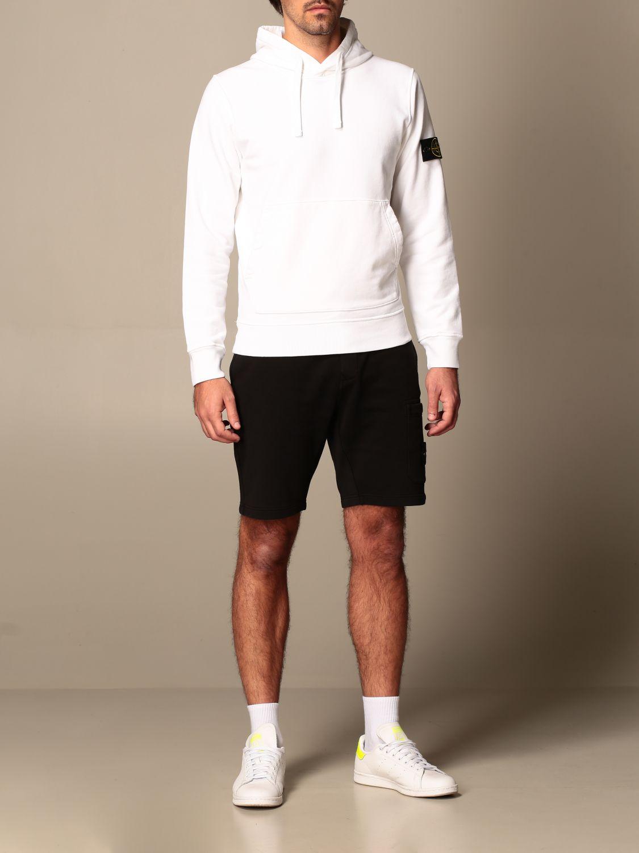Sweatshirt Stone Island: Stone Island hooded sweatshirt in cotton with logo white 2
