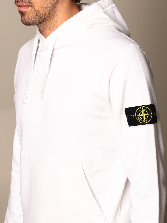 Sweatshirt Stone Island: Stone Island hooded sweatshirt in cotton with logo white 4