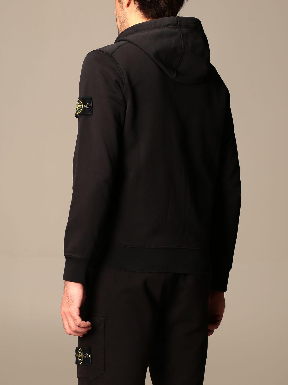 Sweatshirt Stone Island: Stone Island hooded sweatshirt in stretch cotton black 3