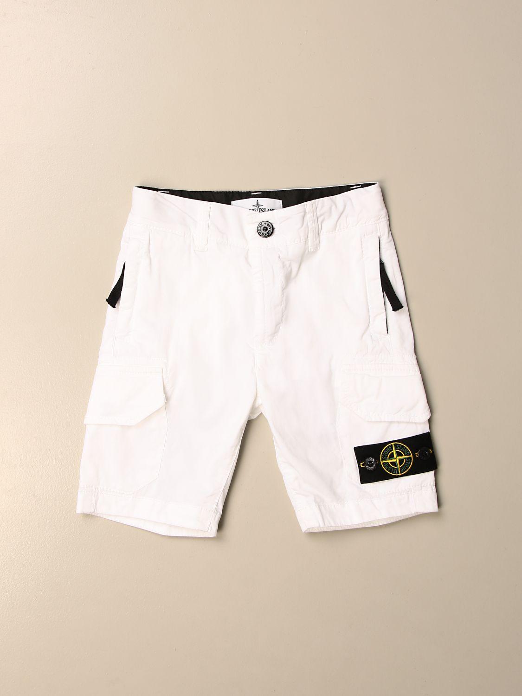 Shorts Stone Island Junior: Kargo Stone Island Junior bermuda in cotton white 1
