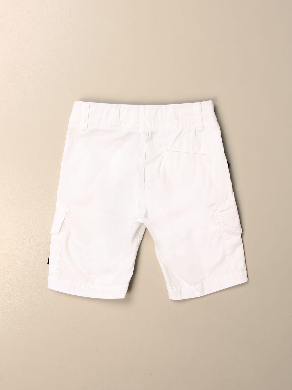Shorts Stone Island Junior: Kargo Stone Island Junior bermuda in cotton white 2