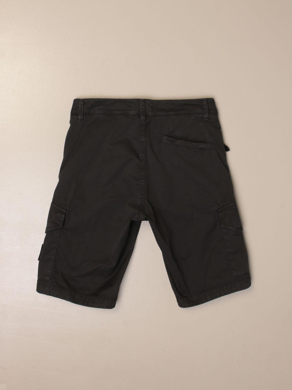 Pantaloncino Stone Island Junior: Bermuda Kargo Stone Island Junior in cotone nero 2